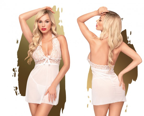 PENTHOUSE LINGERIE Sweet & Spicy L-XL weiss