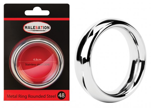 MALESATION Metal Ring Rounded Steel 48