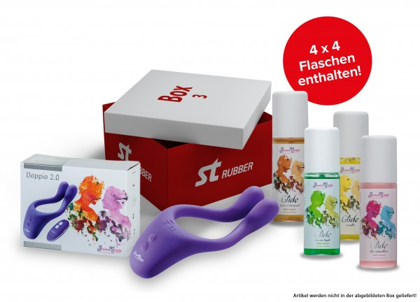 BeauMents Doppio 2.0 purple/Gleitmittel-Package 3